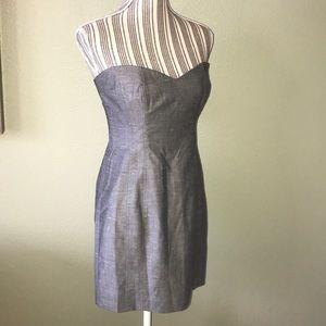 Bebe strapless silk dress